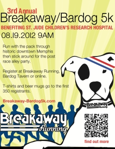 Breakaway Bardog 5k Race Flyer